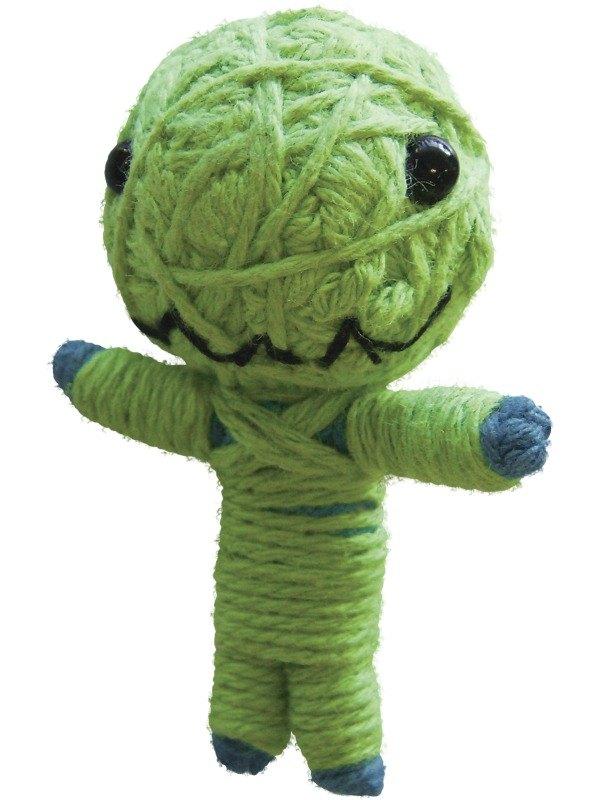 Voodoo String Doll Charm, Little Green Monster