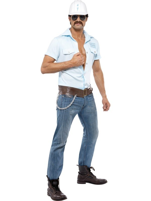 Village People Construction Worker Fancy Dress Costume