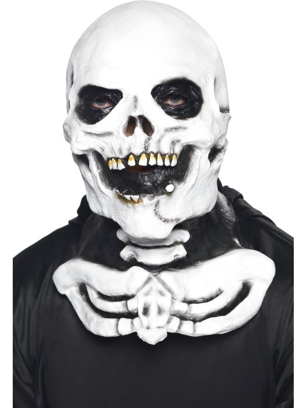 Skeleton Fancy Dress Mask with Chest Piece