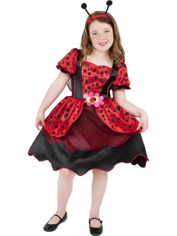 Girls Little Lady Bug Fancy Dress Costume