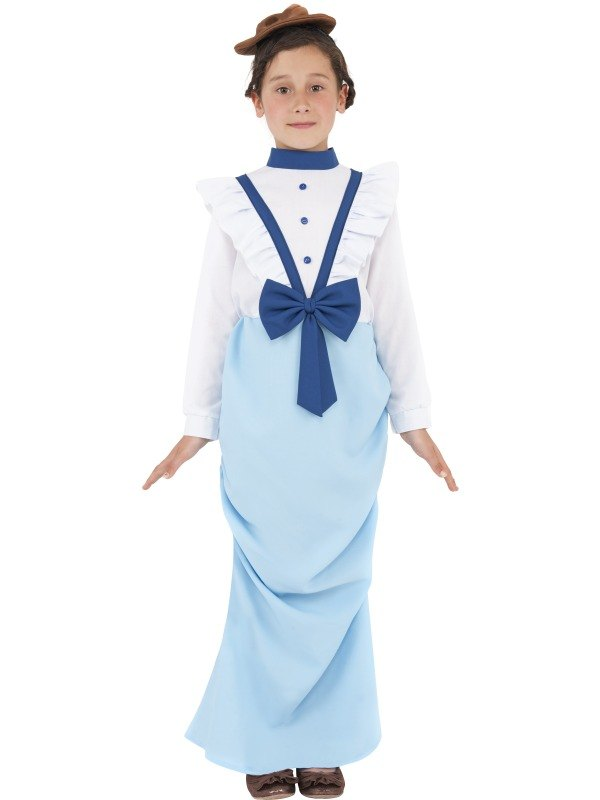 Girls Posh Victorian Fancy Dress Costume