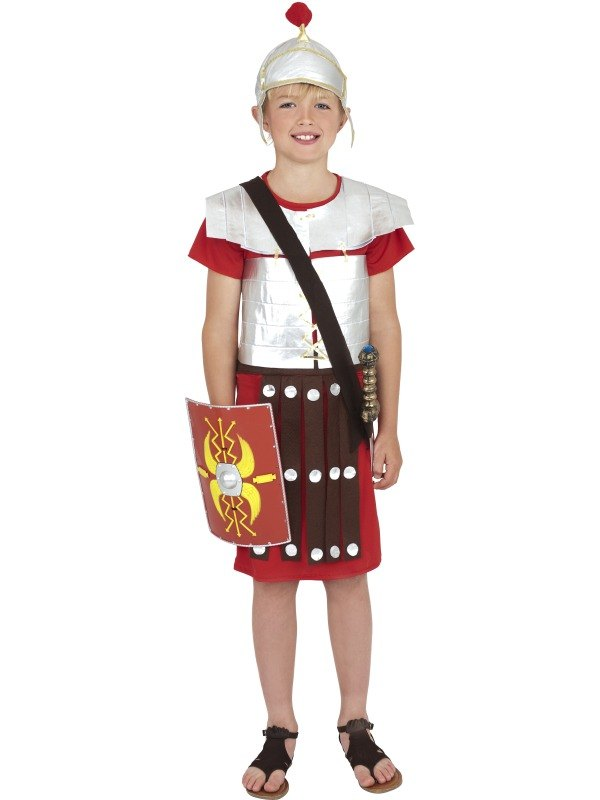 Boys Roman Soldier Fancy Dress Costume