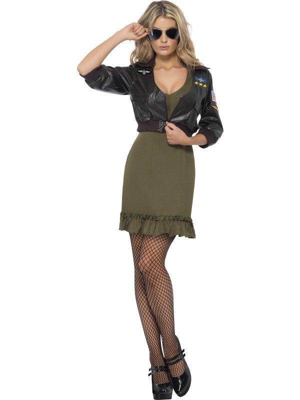 Sexy Top Gun Fancy Dress Costume
