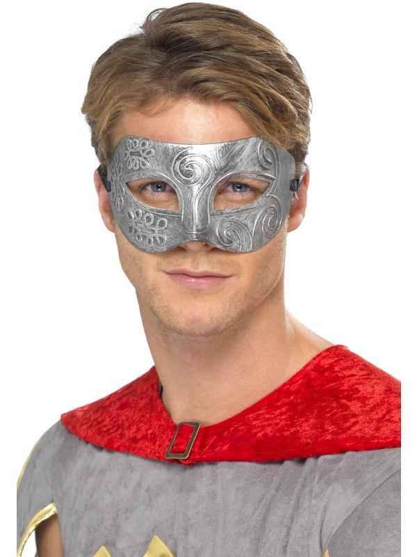 Metallic Warrior Colombina EyeFancy Dress Mask