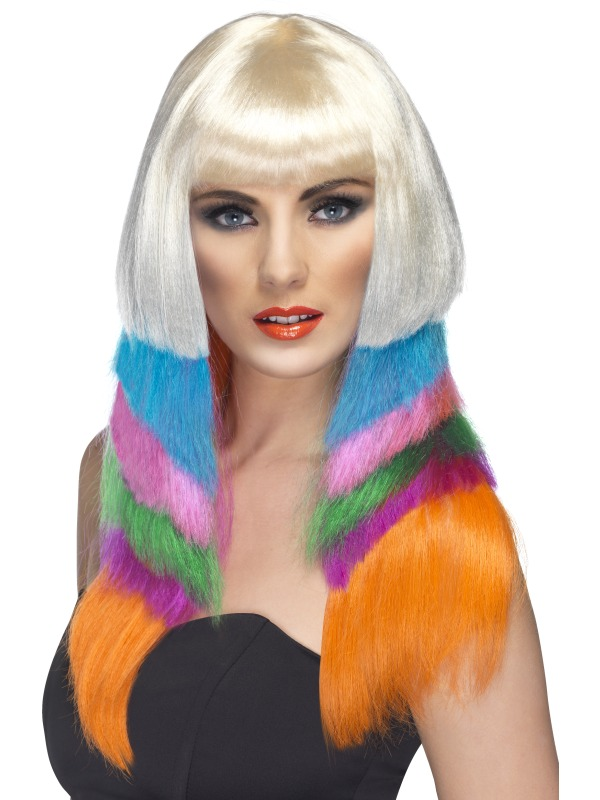 Multicoloured Fancy Dress Wig