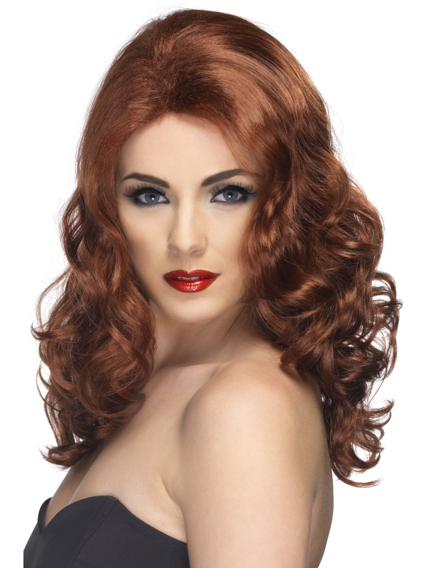 Glamorous Fancy Dress Wig Auburn