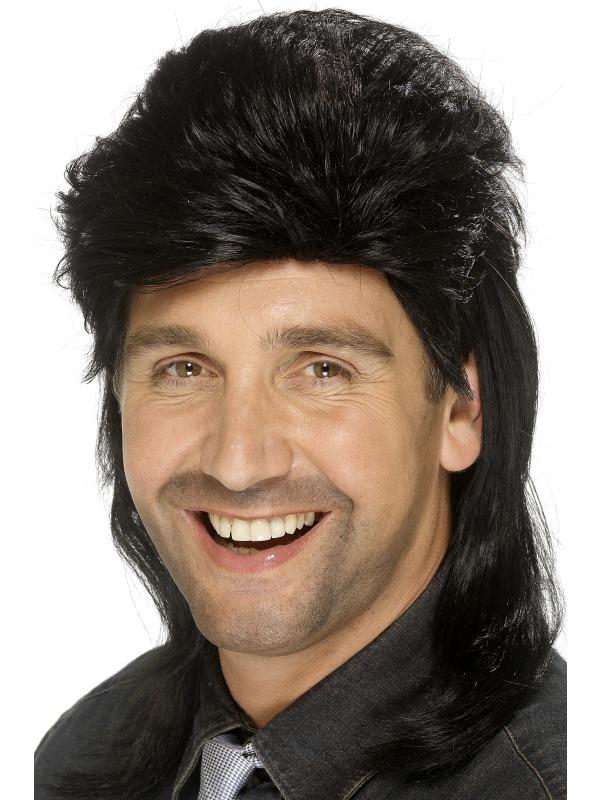Mullet Wig Black