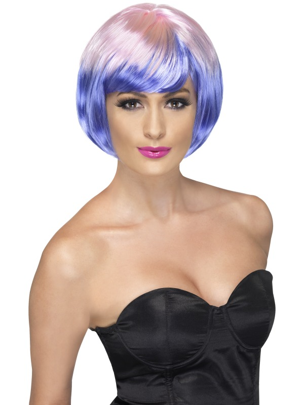 Funky Babe Wig Pink and Purple