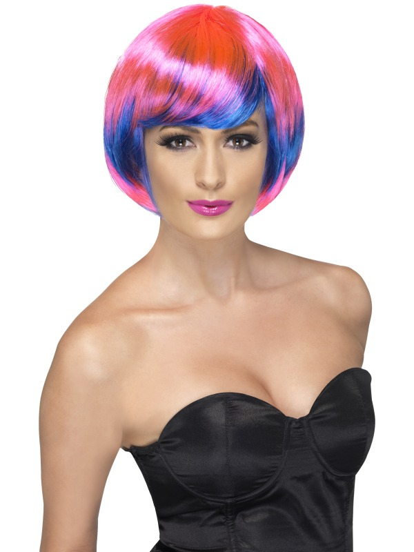Funky Babe Wig pink & blue