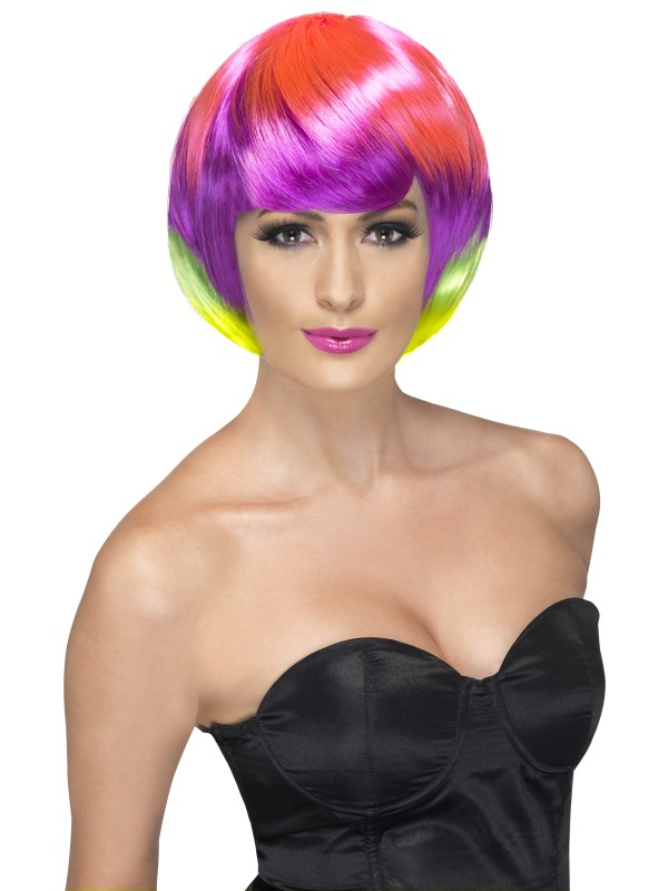 Funky Babe Wig Muiti  Coloured