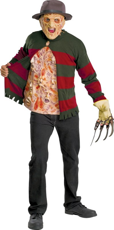 Adult Freddy Chest of Ghouls Mens Halloween Horror Party Fancy Dress Costume