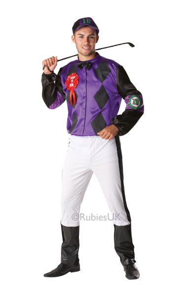 Male Jockey Fancy Dress Costume