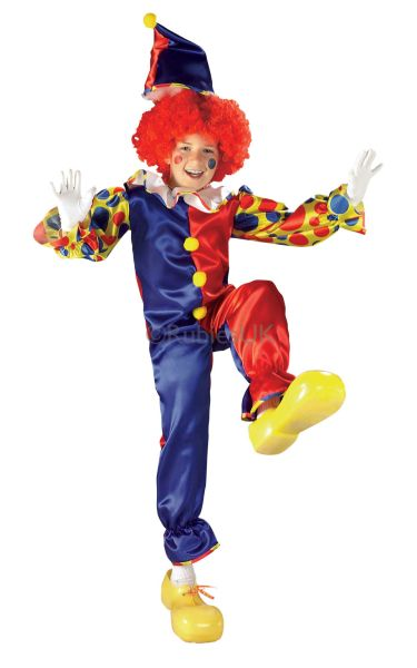 Kids Bubbles the Clown Fancy Dress Costume