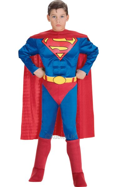 Childs Superman Fancy Dress Costume