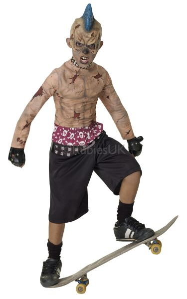 Zombie Skate Punk Fancy Dress Costume
