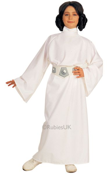 Girls Princess Leia Fancy Dress Costume