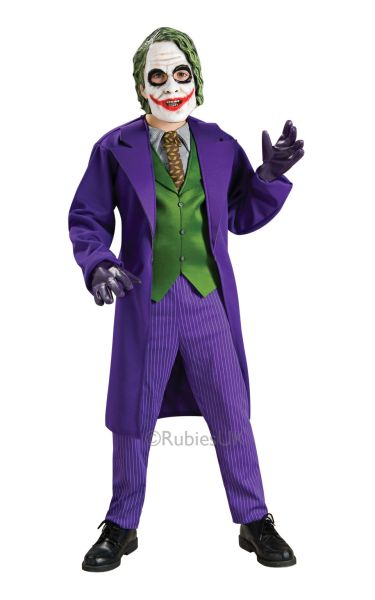 Kids Deluxe The Joker Fancy Dress Costume