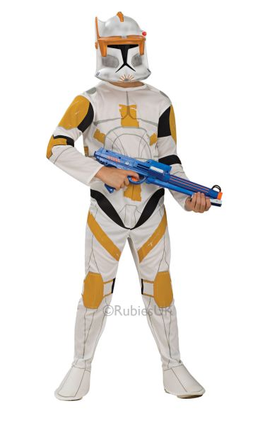 Clone Trooper Commander Fancy Dress Costume