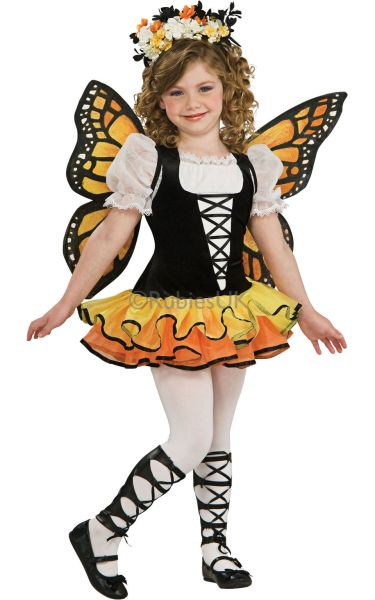 Kids Monarch Butterfly Fancy Dress Costume
