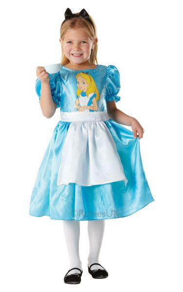 Alice in Wonderland Classic Fancy Dress Costume