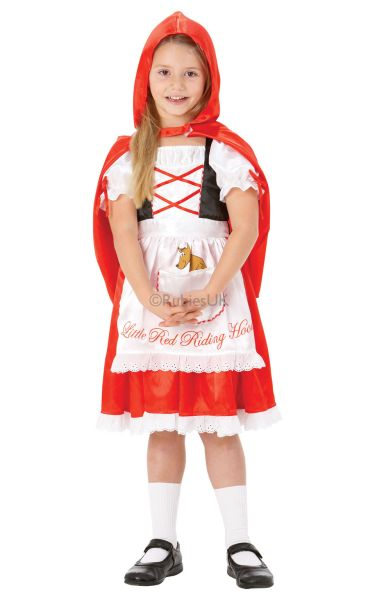 Girls Red Riding Hood Fancy Dress Costume