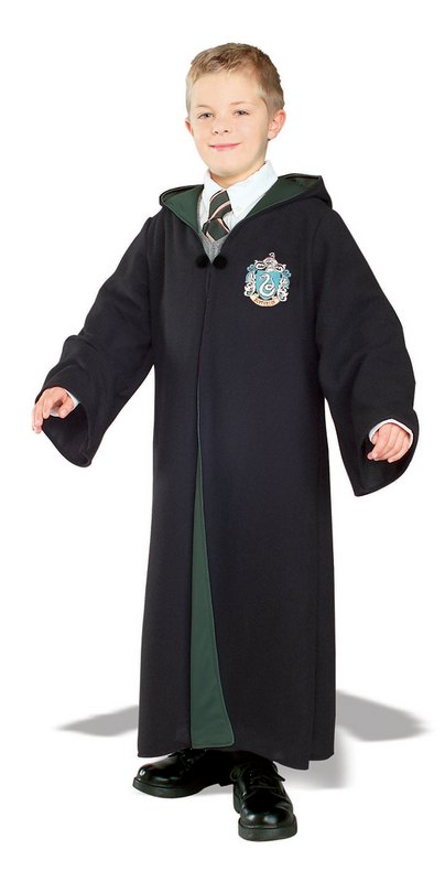 Kids Harry Potter Slytherin Robe Fancy Dress Costume