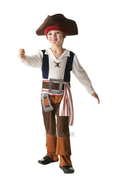 Kids Jack Sparrow Fancy Dress Costume