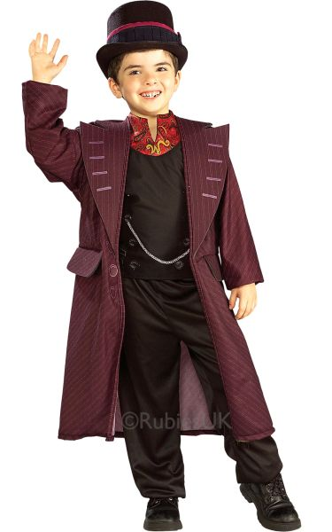Kids Licensed Willy Wonka Fancy Dress Costume