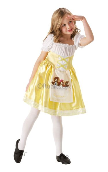 Girls Goldilocks Fancy Dress Costume