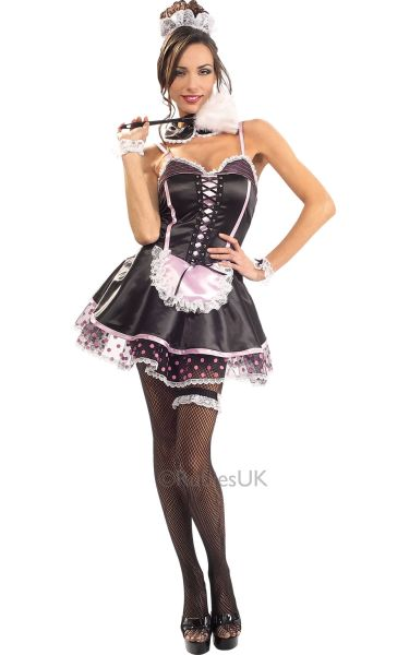 Naughty French Maid Fancy Dress Costume