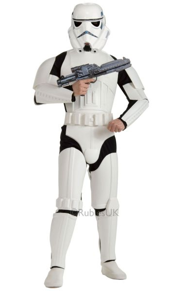 Deluxe Adult Storm Trooper Fancy Dress Costume