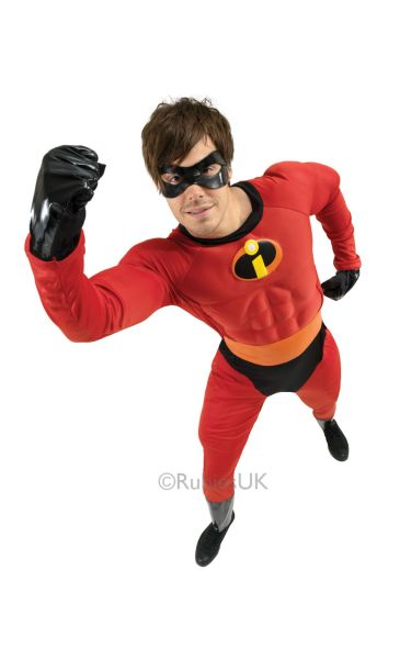 Mr Incredible Muscle Chest Fancy Dress Costume