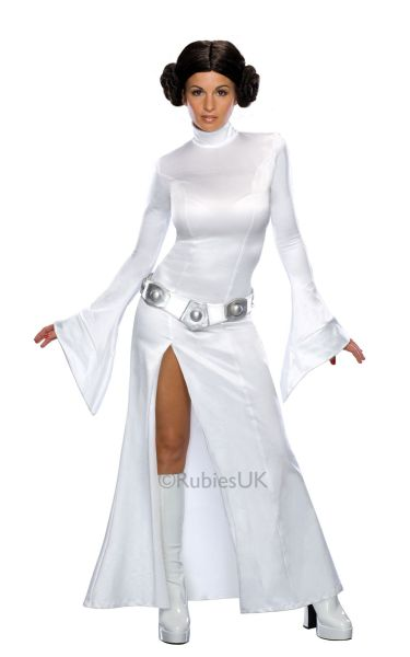 Deluxe Princess Leia Fancy Dress Costume