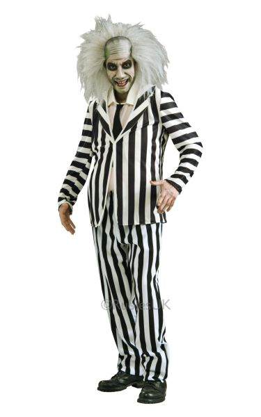 Classic Beetlejuice Fancy Dress Costume