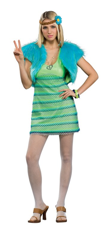 Lime 60S Girl Costume