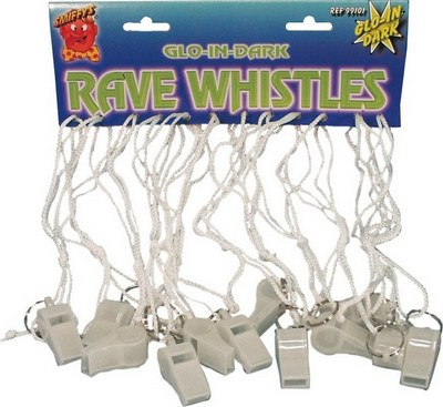 Single Glow in the Dark Whistle