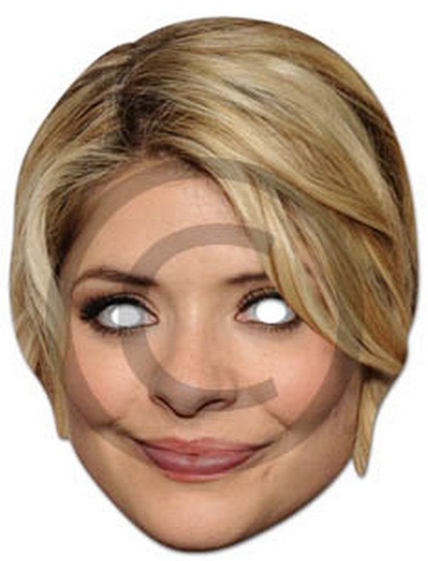 Holly Willoughby Cardboard Mask