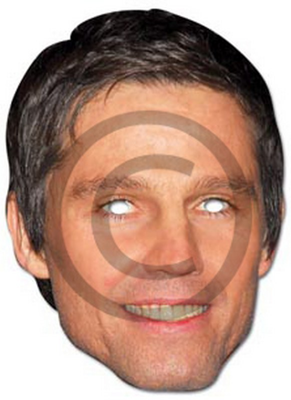 Jason Orange Cardboard Mask
