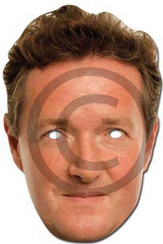 Piers Morgan Cardboard Mask