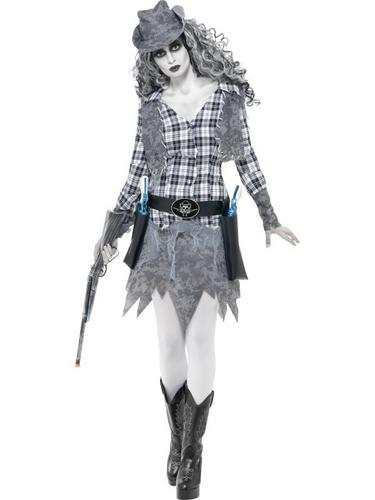 Ghost Town Cowgirl Costume Thumbnail 1