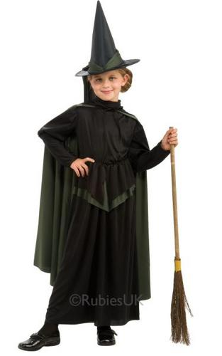 Girls Wicked Witch Fancy Dress Costume Thumbnail 1