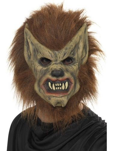 Brown Werewolf Fancy Dress Mask Thumbnail 1