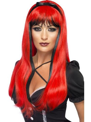 Bewitching Fancy Dress Wig Red Thumbnail 1