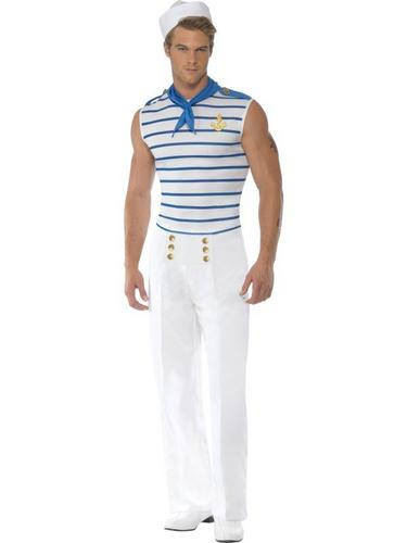 French Sailor Fancy Dress Costume Thumbnail 2