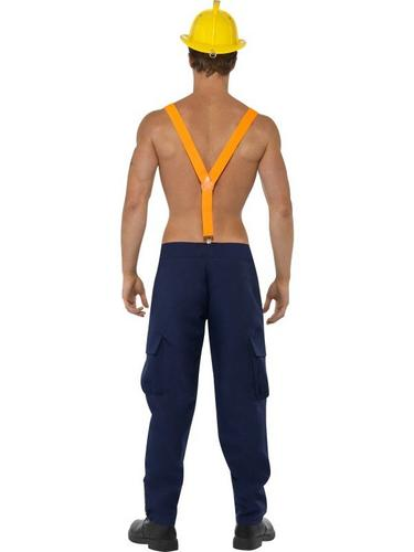 Male Firefighter Fancy Dress Costume Thumbnail 3