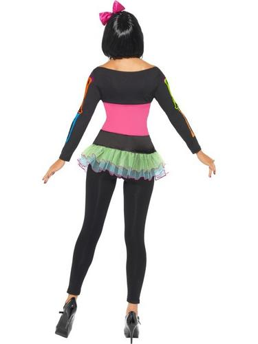 Neon Skeleton Fancy Dress Costume Thumbnail 2