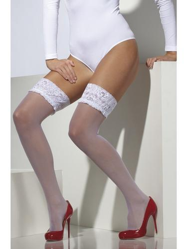 Hold Up Stockings White Thumbnail 1