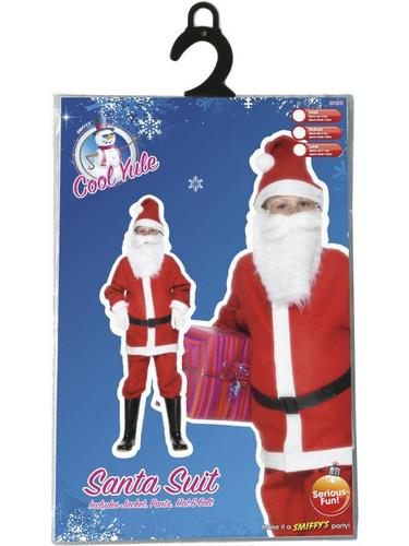 Boys Santa Fancy Dress Costume Thumbnail 4