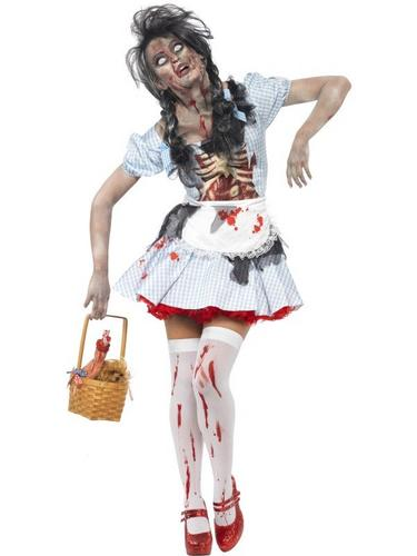 Horror Zombie Dorothy Fancy Dress Costume Thumbnail 1