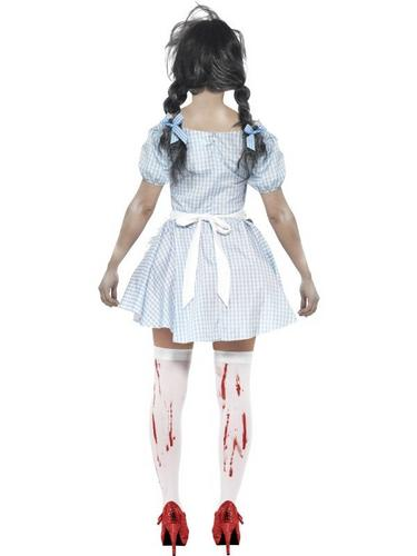 Horror Zombie Dorothy Fancy Dress Costume Thumbnail 2